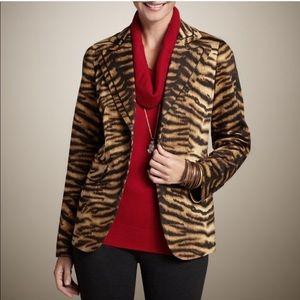 Chico's Fierce Stripe Fantasia Animal Jacket, M/8